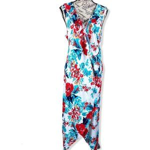 Love Squared Plus Size Printed High-Low Maxi Dress